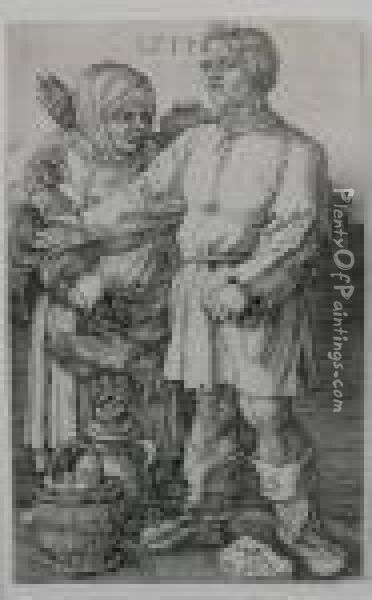 Peasant Couple Going To Market Oil Painting - Albrecht Durer