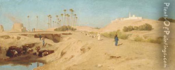 Brickmakers In Egypt Oil Painting - Frederick Goodall