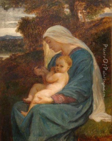 The Holy Mother Oil Painting - Frederick Goodall