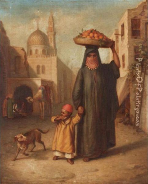 The Orange Carrier Oil Painting - Frederick Goodall