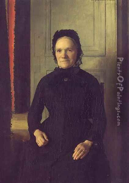 Madame Coquelin Mere Oil Painting - Emile Friant