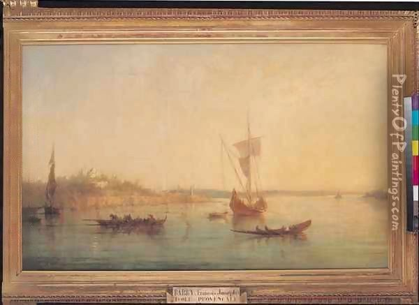 The Mouth of the Bosphorus at Constantinople Oil Painting - Francois Pierre Bernard Barry
