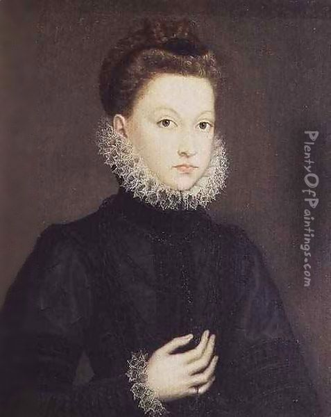 Infanta Isabella Clara Eugenia (1566-1633), daughter of Philip II of Spain (1527-98) and Isabella of Valois (1545-68) Oil Painting - Sofonisba Anguissola