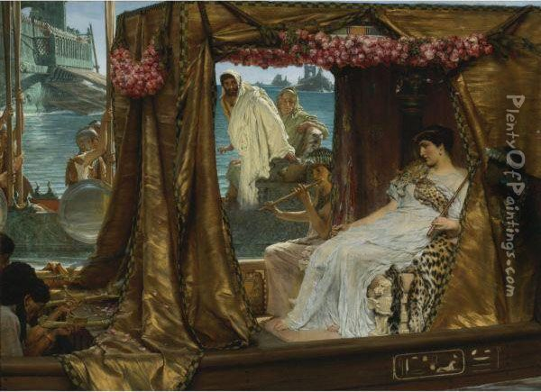 The Meeting Of Antony And Cleopatra: 41 Bc Oil Painting - Sir Lawrence Alma-Tadema