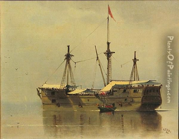 Work Ship No. 16 Oil Painting - Charles Temple Dix