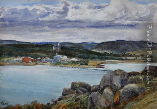 encounter Bay Oil Painting - Harry P. Gill
