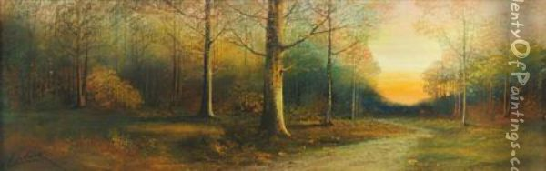 Forest Landscape Oil Painting - Harry Linder