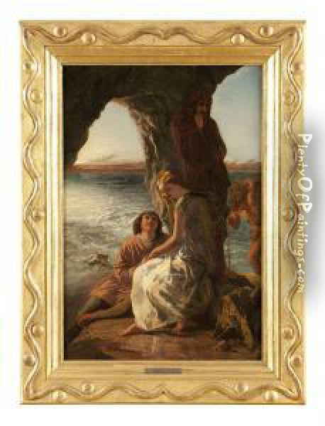 Scene From The Tempest Oil Painting - Paul Falconer Poole